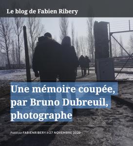 """""""Une mémoire coupée"""", un article de Fabien Ribery"""
